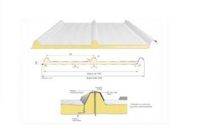 Isotelha Trapezoidal PIR / PUR